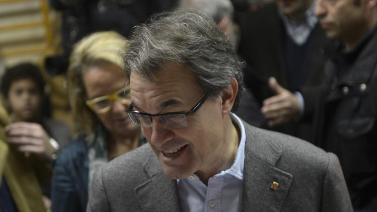Spain's Catalonia punishes pro-referendum leader