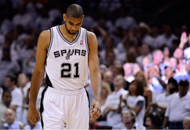 Tim Duncan #21 Of The San Antonio Spurs Looks Getty Images