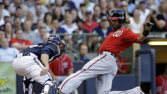 Haren's strong start lifts Nationals over Brewers