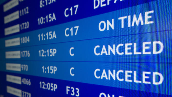 US airlines to halt Northeast flights