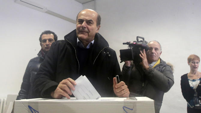 Bersani wins Italy primary, heads to general vote