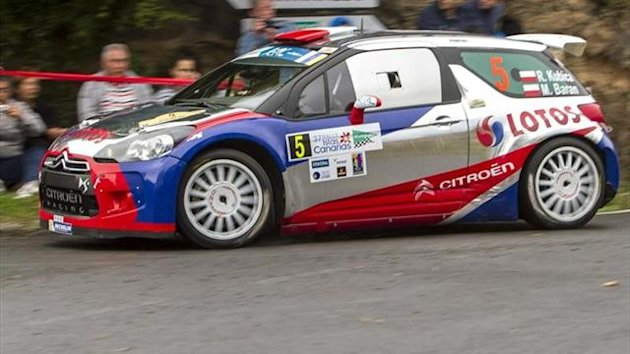 Robert Kubica in the Rally Islas Canarias on his ERC debut