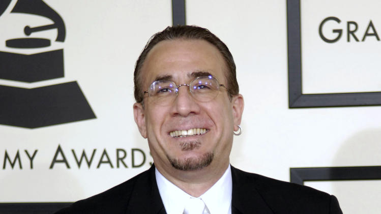 FILE - In this Feb. 10, 2008 file photo, jazz musician Bobby Sanabria arrives at the 50th Annual Grammy Awards in Los Angeles. A year after the Grammy Awards cut 31 categories, sparking protests and a lawsuit by Latin jazz musicians, the music organization has made more changes by adding three awards, including the reinstatement of best Latin jazz album. Sanabria had been the loudest opponent of the academy's decision last year to reduce its categories and fold some genres into larger fields. (AP Photo/Chris Pizzello, file)