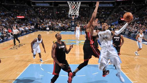 Chandler, Afflalo lead Nuggets over Heat, 102-82