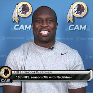 Washington Redskins linebacker London Fletcher: 'I don't sense any tension'