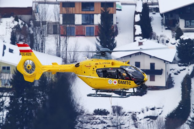 Lindsey Vonn is airlifted off the mountain after crashing.