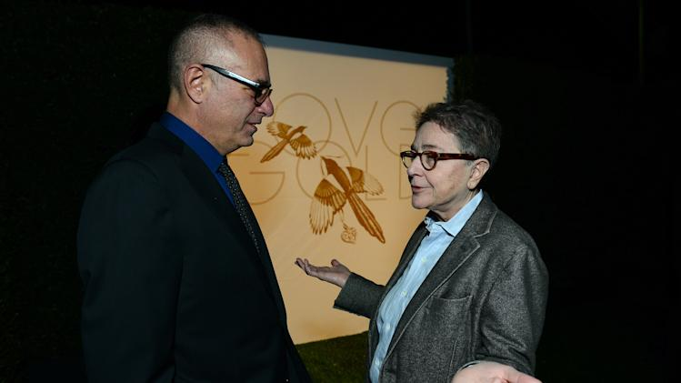 "David France and Joy Tomchin attend LoveGold/EJAF Celebrate ""How to Survive a Plague"" at Chateau Marmont on February 22, 2013 in Los Angeles. (Photo by Jordan Strauss/Invision for LoveGold/AP Images)"