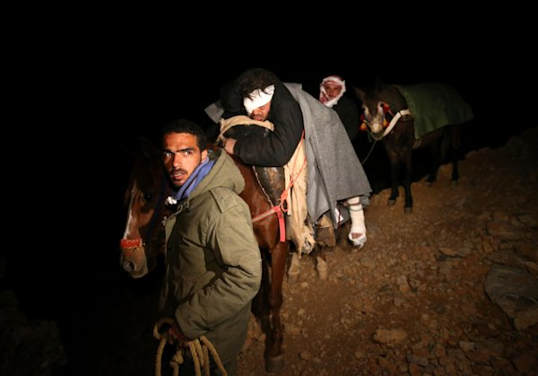 PHOTOS: Syrians on treacherous trek to safety