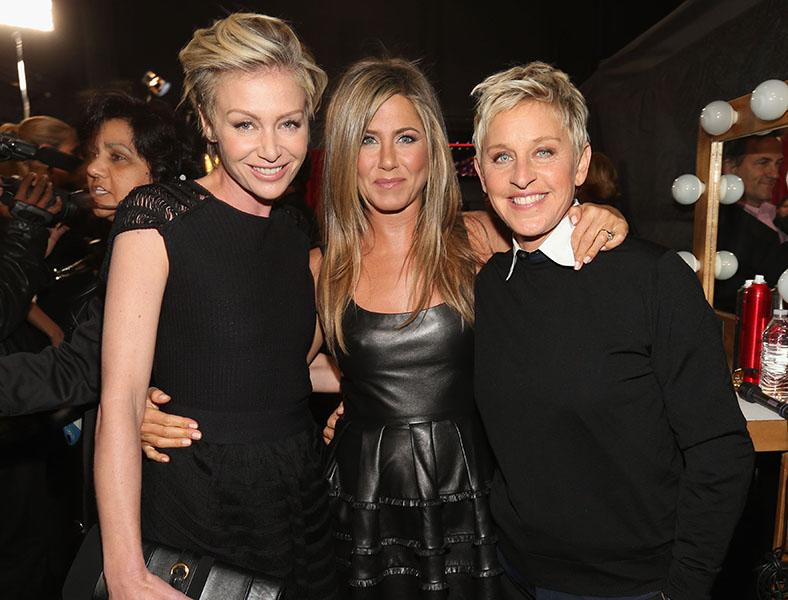 Portia di Rossi, Jennifer Aniston, and Ellen Degeneres