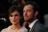 British actress Keira Knightley (L) and actor Jude Law attend the worldwide premiere of 'Anna Karenina' in central London on September 4, 2012