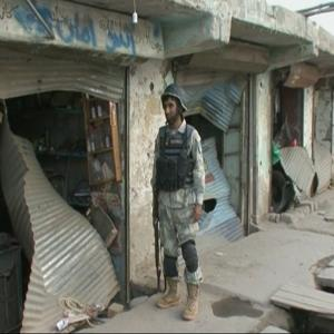 Raw: Suicide Bomber Targets Afghan Security