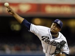 Volquez works 7 innings as Padres top Brewers 2-1