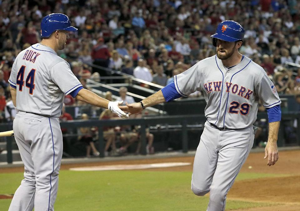 Flores' 3 RBIs lead Mets to 4-1 win over Arizona