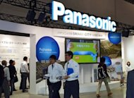 Japan&#39;s consumer electronics giant Panasonic displays its latest technology for a smart city project at an exhibition in Yokohama, suburban Tokyo. Shares in Panasonic dived nearly 20 percent Thursday after the Japanese consumer electronics giant warned of a mammoth $9.6 billion net loss for this fiscal year