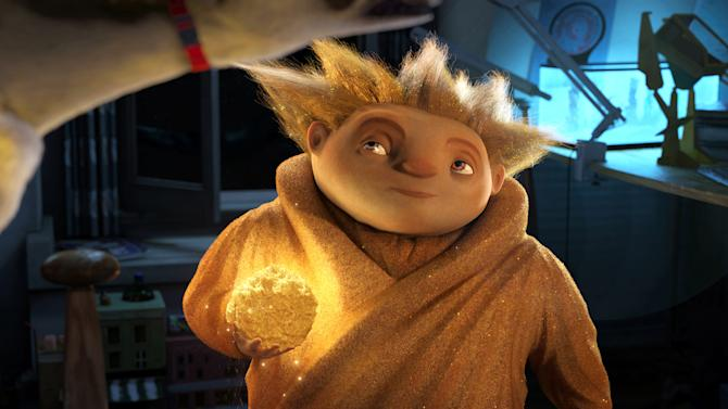 "In this undated publicity photo provided by Paramount Pictures, Sandman eyes his target in DreamWorks Animation's ""Rise of the Guardians."" (AP Photo/Paramount Pictures, Courtesy DreamWorks Animation, File)"