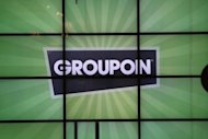 Logo do Groupon  vista em junho de 2011 em Chicago