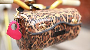 leopard handlebar bag