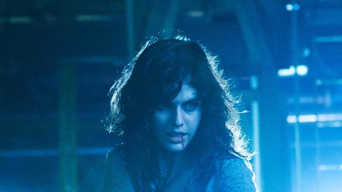"""This undated publicity film image from Lionsgate shows Alexandra Daddario, as Heather Miller in a scene from """"Texas Chainsaw 3-D,"""" releasing in theaters on Friday, January 4, 2013.  (AP Photo/Lionsgate, Justin Lubin)"""