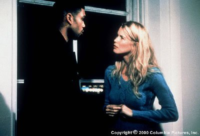 Allan Houston and Claudia Schiffer in Screen Gems' Black And White