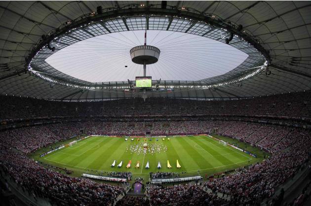 File photo of the national stadium in Warsaw