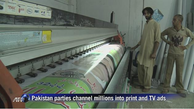 Pakistan parties channel millions into ads