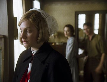 Romola Garai , Keira Knightley and James McAvoy in Focus Features' Atonement