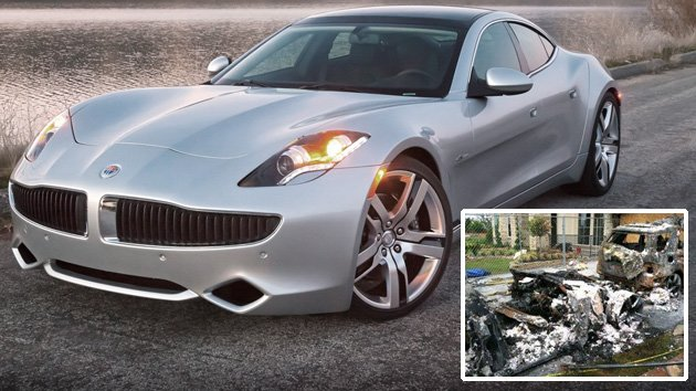 Fisker Karma fire