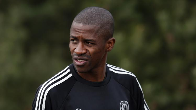 Chelsea's Ramires arrives for a team training session at their training ground in Cobham, southern England