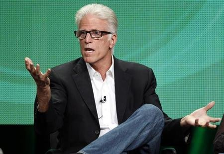 Ted Danson, cast member of 'CSI Crime Scene Investigation', speaks during a panel discussion at the CBS Television Network's 2011 Summer Television Critics Association Press Tour in Beverly Hills, California August 3, 2011. REUTERS/Fred Prouser