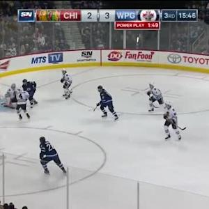 Corey Crawford Save on Dustin Byfuglien (04:15/3rd)