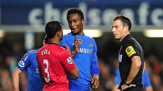 Patrice Evra, John Obi Mikel, Mark Clattenburg