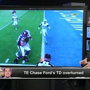 Should Minnesota Vikings tight end Chase Ford been given the touchdown?