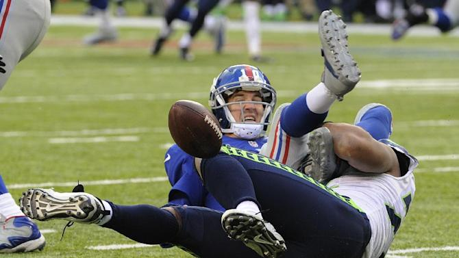 Seahawks manhandle Giants 23-0