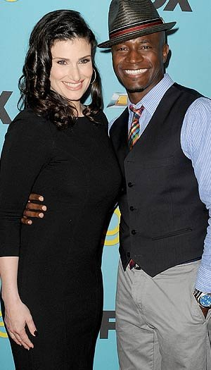 Diggs and wife Idina Menzel. Kevin Winter/Getty Images North America