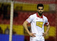 Sevilla&#39;s Alvaro Negredo, seen here during their Spanish La Liga match against Malaga, at the Ramon Sanchez Pizjuan stadium in Sevilla, on December 15, 2012. Malaga won 2-0