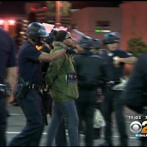 LAPD: 183 Arrested In Overnight Protests Downtown
