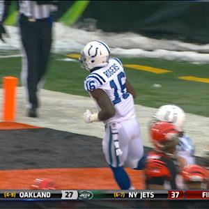 Indianapolis Colts wide receiver Da'Rick Rogers 2-yard touchdown