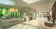 A rendering of a lobby at the new EVEN Hotel chain
