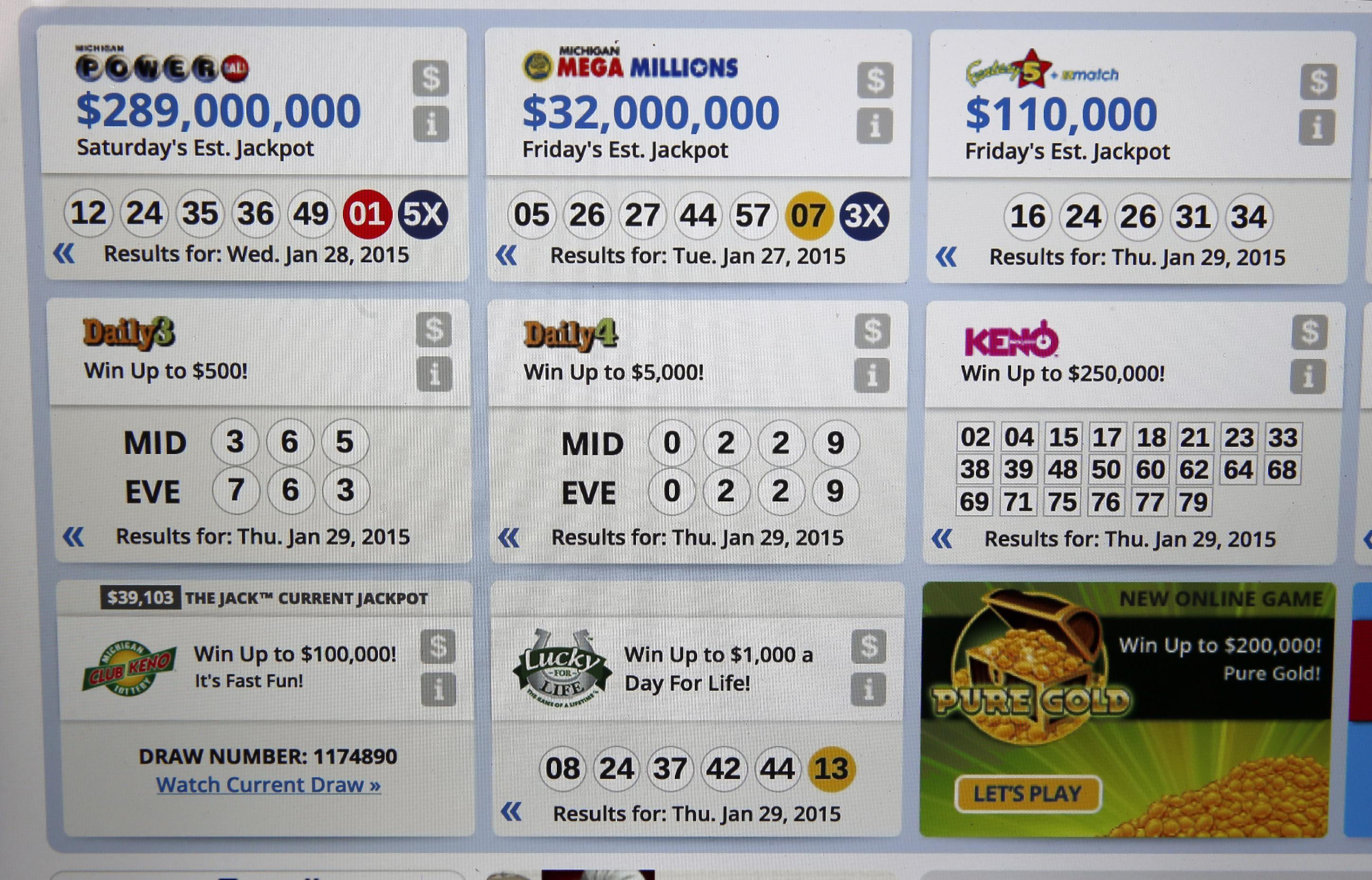 Michigan Lottery drawings have some people seeing double