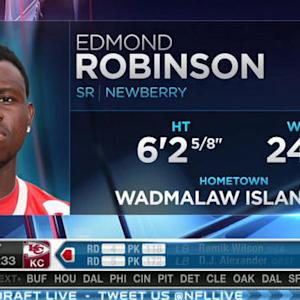 Minnesota Vikings pick linebacker Edmond Robinson No. 232 in 2015 NFL Draft