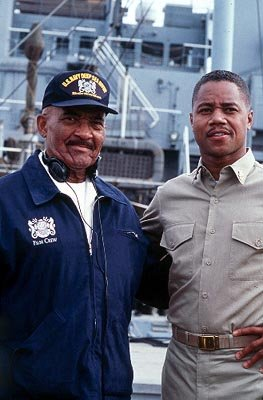 Carl Brashear , whose remarkable life the film is based on, and Cuba Gooding Jr. , the man who portrays him in 20th Century Fox's Men of Honor