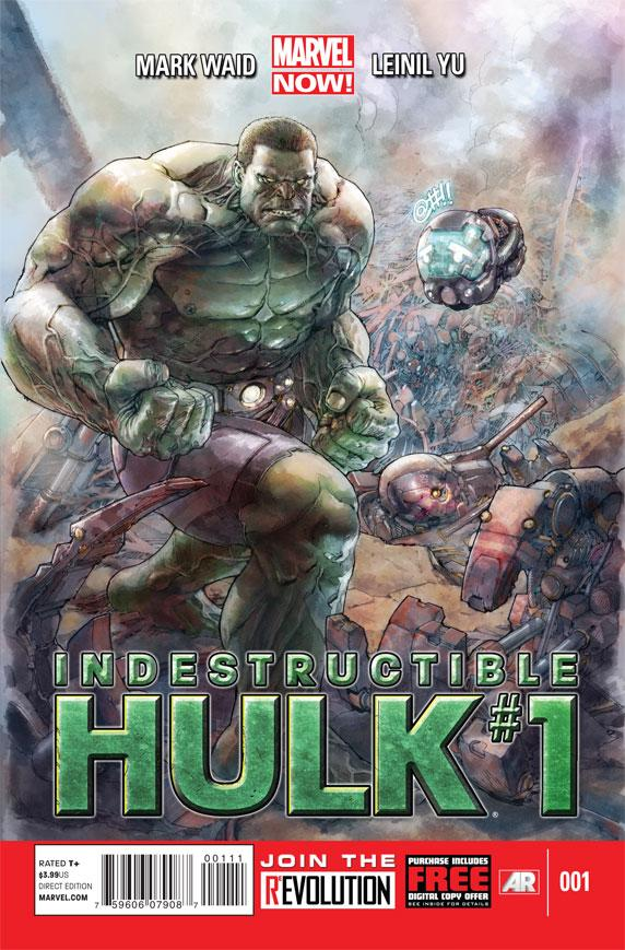 """This comic image released by Marvel Entertainment shows the cover of the upcoming """"Indestructible Hulk,"""" part of Marvel Comics' new initiative aimed at recharging the publisher's heroes and villains. (AP Photo/Marvel Entertainment)"""