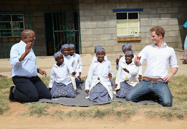 Back to School: Prince Harry Visits Lesotho, Gets Classes in Cooking and Sign Language