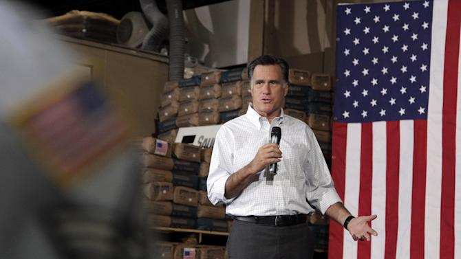 Republican presidential candidate, former Massachusetts Gov. Mitt Romney speaks at a campaign stop in Pittsburgh, Pa., Friday, May 4, 2012. (AP Photo/Jae C. Hong)