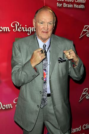 """Former boxer Chuck Wepner arrives at the Keep Memory Alive 16th Annual """"Power of Love Gala"""" honoring Muhammad Ali with his 70th birthday celebration on Saturday, Feb. 18, 2012, in Las Vegas. (AP Photo/Jeff Bottari)"""