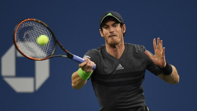 Andy Murray during his US Open match against Matthias Bachinger in New York on August 28, 2014