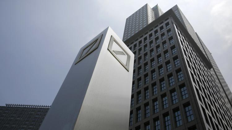 File photo of the company logo of Deutsche Bank AG