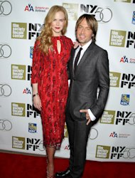 "This image released by Starpix shows actress and honoree Nicole Kidman, left, and her husband Keith Urban at a gala by The Film Society of Lincoln Center following by the premiere of her film, ""The Paperboy"" at the 2012 New York Film Festival at Alice Tully Hall, Wednesday, Oct. 3, 2012 in New York. (AP Photo/Starpix, Marion Curtis)"