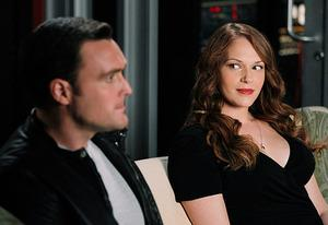 Owain Yeoman and Amanda Righetti | Photo Credits: CBS