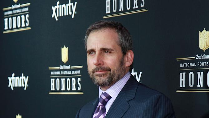 Steve Carell arrives at the 2nd Annual NFL Honors, on Saturday, Feb. 2. 2013 in New Orleans (Photo by Dario Cantatore/Invision/AP)